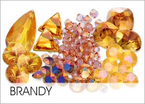Brandy Custom Coating on Swarovski crystals