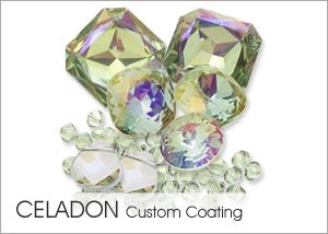 Celadon on Swarovski crystals