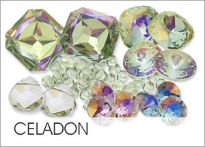 Celadon on Swarovski crystals