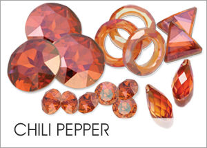 Chili Pepper Custom Coating on Swarovski crystals