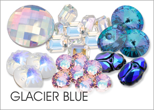 Glacier-Blue Custom Coating on Swarovski crystal