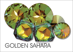 Goldens-Sahara Custom Coating on Swarovski crystals