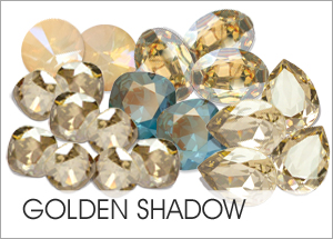 Golden Shadow Custom Coating on Swarovski crystals