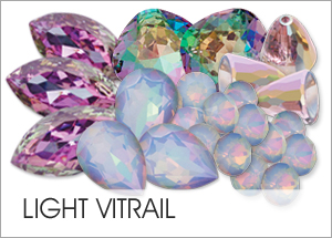 Light Vitrail EHA Custom Coating on Swarovski crystals