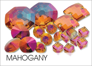 Custom Swarovski crystals with Mahogany Coating