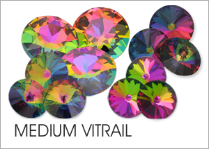 Medium-Vitrail EHA Custom Coating on Swarovski crystals
