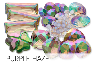Purple Haze Custom Coating on Swarovski crystals