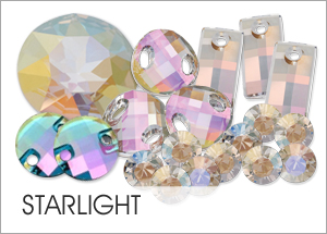 Custom Swarovski crystals with Starlight Coating
