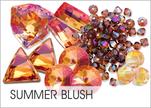Summerblush Custom Coating on Swarovski crystals
