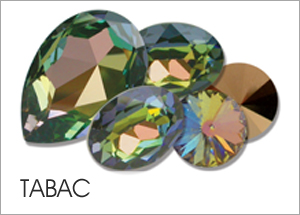 Custom Swarovski crystals with Tabac Coating