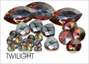 Custom Swarovski crystals with Twilight Coating