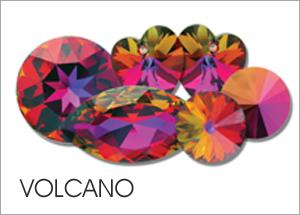 Custom Swarovski crystals with Volcano Coating