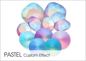 Pastel Effect on Swarovski crystals