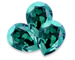 Swarovski 4320 Pear Fancy Stone Aqua Envy