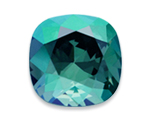 Swarovski 4470 Square Antique Fancy Stone Aqua Envy