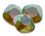 Swarovski 4470 Square Antique Fancy Stone Yellow Opal Envy