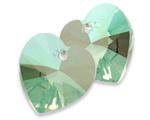 Swarovski 6228 XILION Heart Pendant Crystal Envy