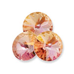 Swarovski 1122 Rivoli Round Stone Light Rose Lemon