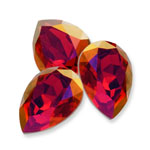 Swarovski 4320 Pear Fancy Stone Scarlet Lemon