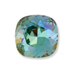 Swarovski 4470 Square Antique Fancy Stone Light Turquoise Lemon