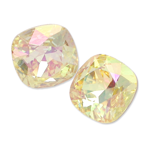 Swarovski Square Antique Fancy Stone 4470 Crystal Lemon