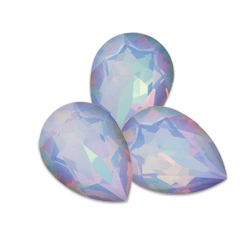 Swarovski Pear Fancy Stone 4320 White Opal Light Vitrail