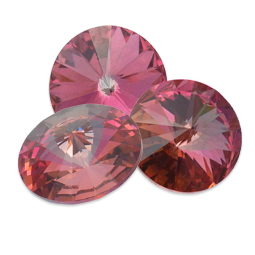 Swarovski Rivoli 1122 Rose Peach Light Vitrail
