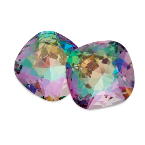 Swarovski Square Antique Fancy Stone 4470 Crystal Light Vitrail