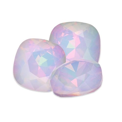 Swarovski Square Antique Fancy Stone 4470 White Opal Light Vitrail