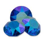 Swarovski 1088 XIRIUS Chaton Round Stone Majestic Blue Verde