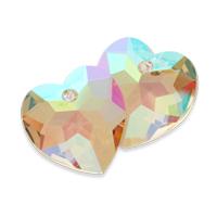 Swarovski Heart Pendant 6215 Crystal Purple Haze