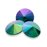 Swarovski Rivoli 1122 Emerald Purple Haze