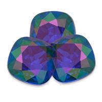 Swarovski Square Antique Fancy Stone 4470 Majestic Blue Purple Haze