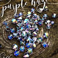 Swarovski XILION Bi-cone Bead 5328 Light Sapphire Purple Haze