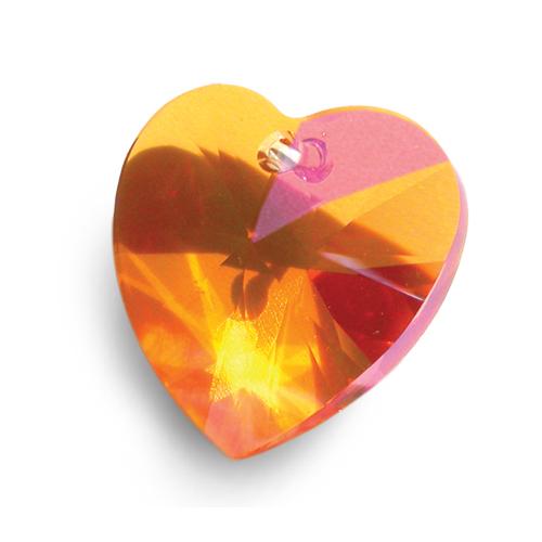Swarovski XILION Heart Pendant 6228 Crystal Summer Blush