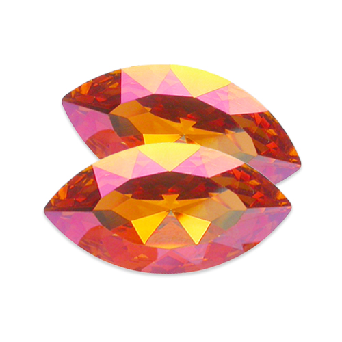Swarovski XILION Navette Fancy Stone 4228 Crystal Summer Blush