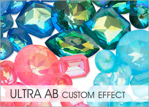 Ultra AB Custom Coating on Swarovski crystals