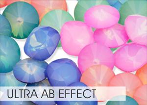 Ultra AB Custom Effect on Swarovski crystals