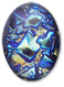 13253 Oval Geode Glass Cabochon Ultra Blue AB