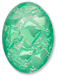 13253 Oval Geode Glass Cabochon Ultra Emerald AB