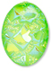 13253 Oval Geode Glass Cabochon Ultra Lime AB