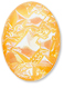 13253 Oval Geode Glass Cabochon Ultra Orange AB