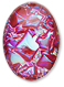 13253 Oval Geode Glass Cabochon Ultra Ruby AB