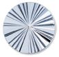 13256 Round Glass Engraved Stone Jet Hematite