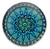 13278 Round Glass Engraved Compass Stone Volcano