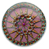 13278 Round Glass Engraved Compass Stone Light Sapphire Vitrail Light