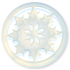 13296 Round Glass Engraved Snowflake Stone Crystal AB