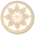13296 Round Glass Engraved Snowflake Stone Crystal Golden Shadow