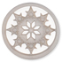 13296 Round Glass Engraved Snowflake Stone Crystal Starlight