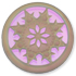 13296 Round Glass Engraved Snowflake Stone Crystal Luster D